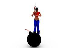 3d woman bomb concept Stock Photo