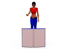 3d woman book concept Royalty Free Stock Image
