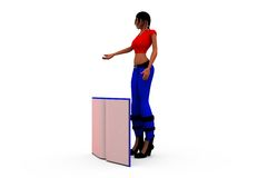 3d woman book concept Royalty Free Stock Images