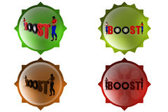 3d woman boost concept Royalty Free Stock Photography