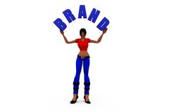 3d woman brand concept Royalty Free Stock Photography