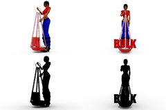 3d woman bulk Concept Collections With Alpha And Shadow Channel Stock Photo