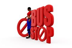 3d woman bus concept Royalty Free Stock Photography