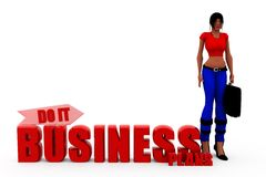 3d woman bussiness plan cocnept Royalty Free Stock Photography