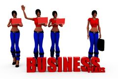 3d woman bussiness plans cocnept Royalty Free Stock Photos