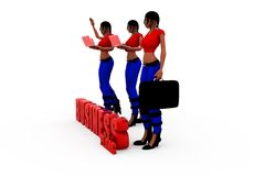 3d woman bussiness plans cocnept Stock Photography