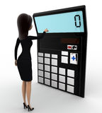 3d woman with calculator to calculate accounts concept Royalty Free Stock Photo