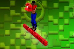 3d woman call details illustration Royalty Free Stock Photography