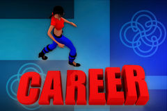 3d woman career illustration Royalty Free Stock Images