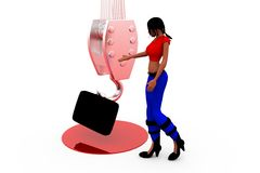 3d woman carry concept Stock Photo