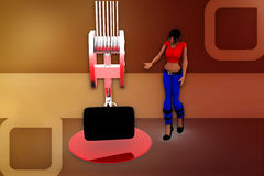 3d woman carry illustration Stock Images