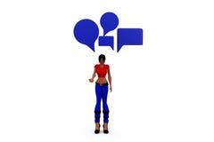 3d woman chat concept Stock Photo