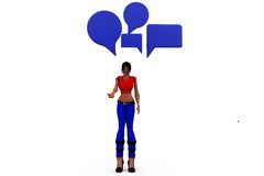 3d woman chat concept Royalty Free Stock Image