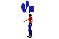 3d woman chat concept Royalty Free Stock Photos
