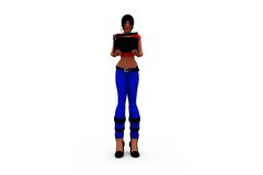3d woman clapper concept Royalty Free Stock Photo