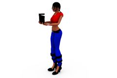3d woman clapper concept Stock Photography