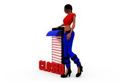 3d woman close concept Stock Photo