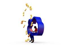 3d woman cloud money concept Stock Images