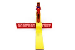 3d woman comfort zone concept Royalty Free Stock Images