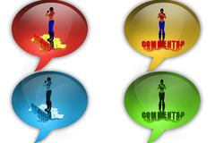 3d woman comments icon Stock Image