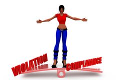 3d woman compliance violation concept Royalty Free Stock Photography
