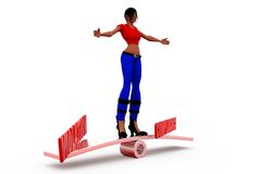 3d woman compliance violation concept Royalty Free Stock Images