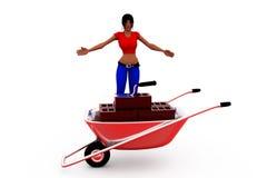 3d woman conctruction concept Royalty Free Stock Photo