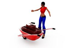 3d woman conctruction concept Royalty Free Stock Image