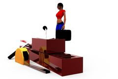 3d woman conctruction tool concept Royalty Free Stock Images