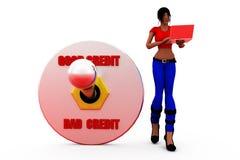 3d woman credit concept Stock Images