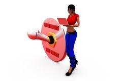 3d woman credit concept Stock Photos