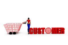3d woman customer concept Royalty Free Stock Photography