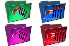 3d woman customer queue icon Royalty Free Stock Images