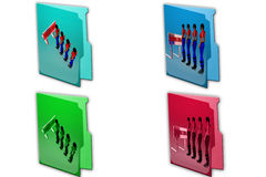 3d woman customer queue icon Stock Image