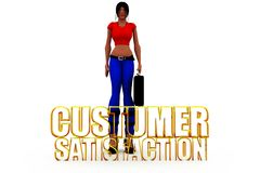 3d woman customer satisfaction concept Stock Photography