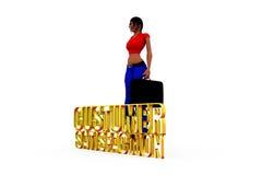 3d woman customer satisfaction concept Stock Photo