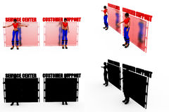 3d woman customer support concept Collections With Alpha And Shadow Channel Stock Images