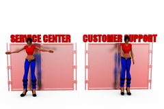 3d woman customer support concept Royalty Free Stock Photography