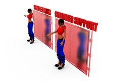 3d woman customer support concept Stock Images