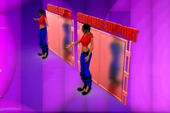 3d woman customer support illustration Royalty Free Stock Photos