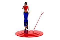 3d woman dartboard concept Stock Photography
