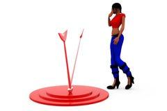 3d woman dartboard concept Stock Photos
