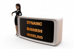 3d woman DBM concept Stock Photos