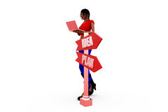 3d woman dept concept Royalty Free Stock Images