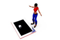 3d woman dice concept Royalty Free Stock Photos
