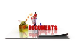 3d woman document concept Stock Photography