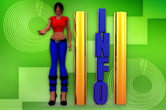 3d woman download illustration Royalty Free Stock Images
