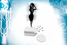 3d woman with drug illustration Stock Photography