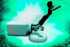 3d woman drug illustration Royalty Free Stock Images