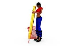 3d woman dustbin concept Stock Photo